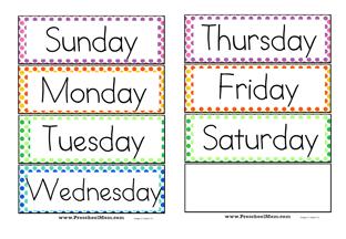 Preschool Calendar Printables - Preschool Mom