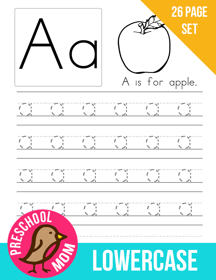Printable Worksheets free printable alphabet worksheets for kindergarten : Alphabet Preschool Printables -