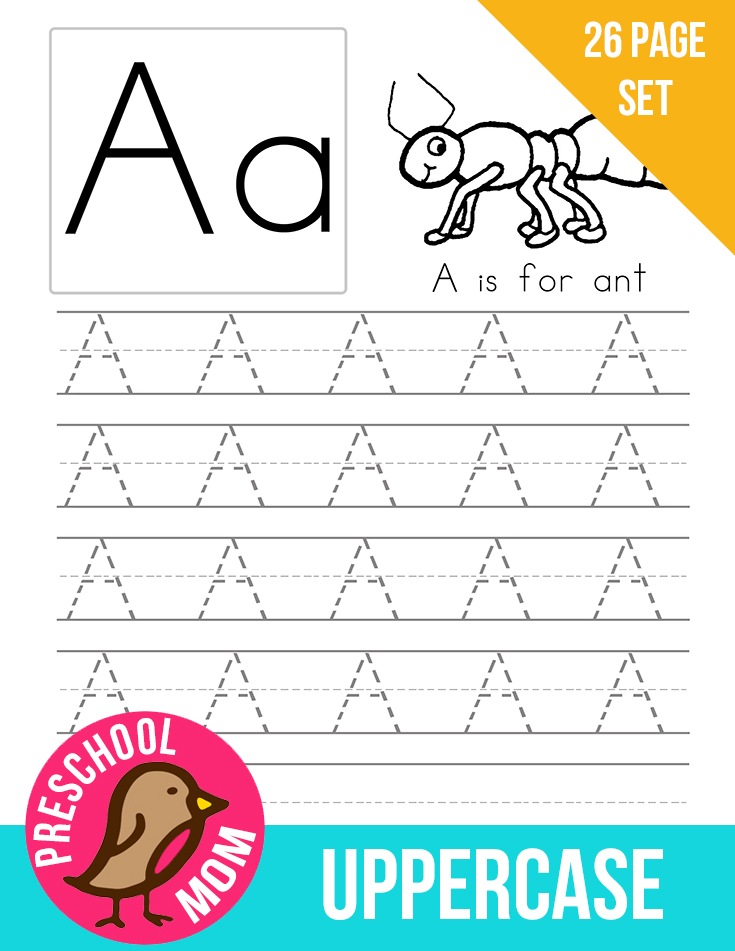 how to create a alphabet chart for preschoolers