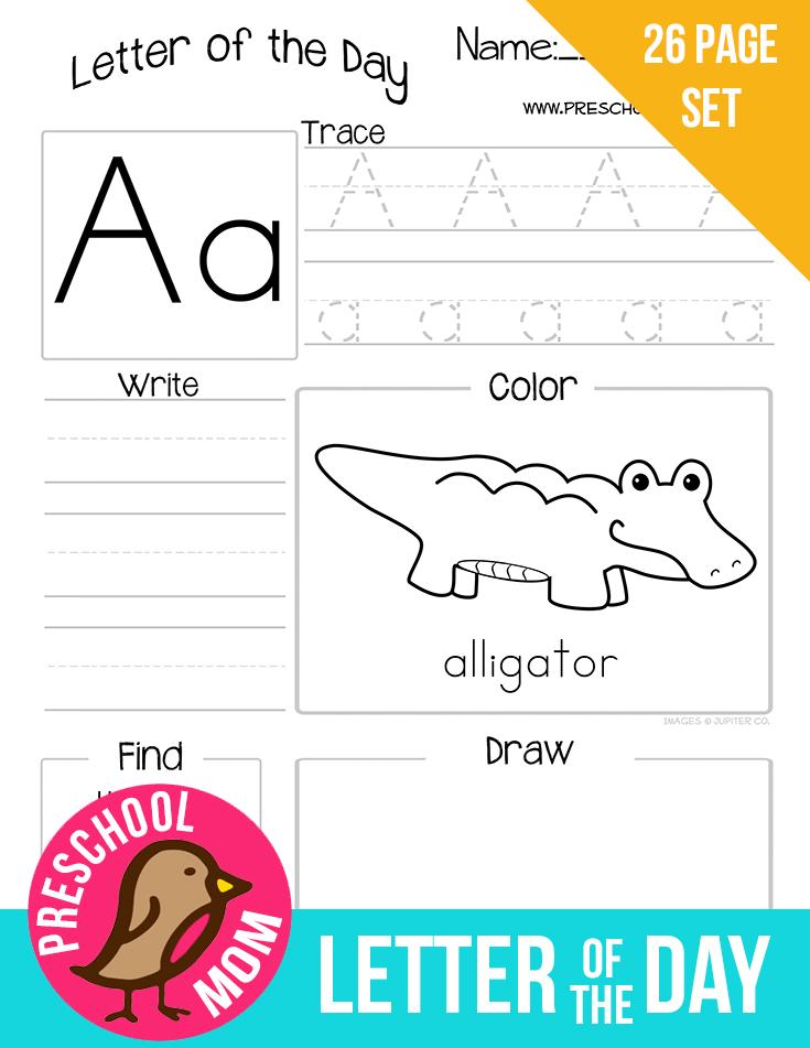 Preschool Alphabet Worksheets : Alphabet preschool printables