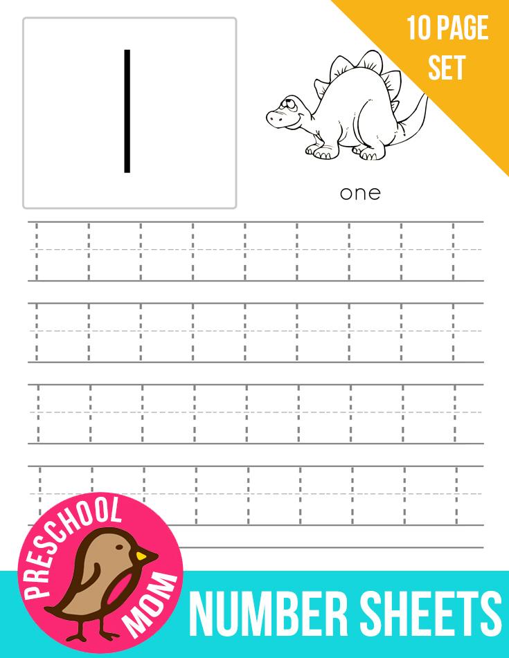 Number Preschool Printables -