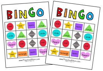 Printables Preschool Printable On Shapes shape preschool printables printable bingo game