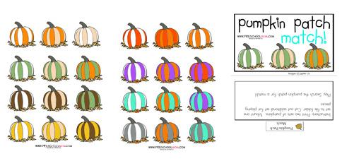 Pumpkin Preschool Printables -